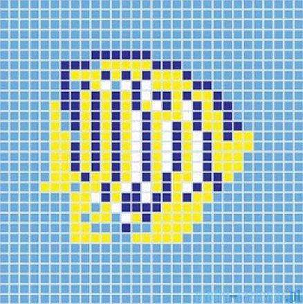 Dunin Q design mozaika szklana wzór 65x65 fish 1