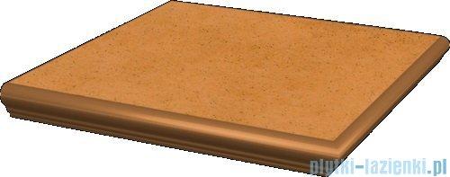 Paradyż Aquarius beige klinkier stopnica z kapinosem narożna 33x33