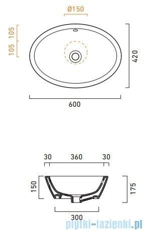 Catalano Velis 60 umywalka nablatowa 60x42 biała 160VL00