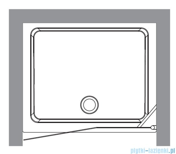 Kerasan Drzwi prysznicowe lewe, szkło przejrzyste profile brązowe 92x180 Retro 9140T3