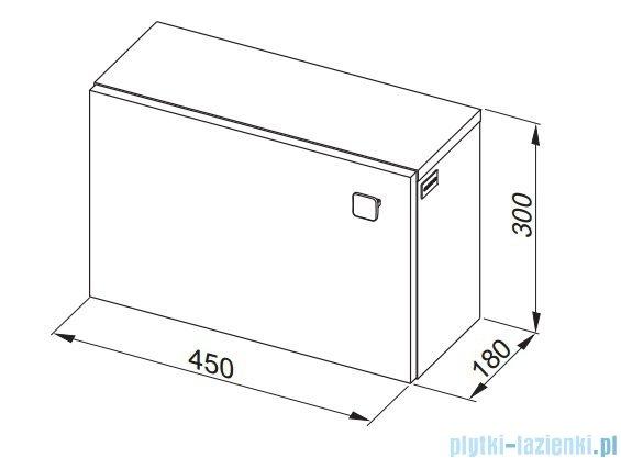 Aquaform Flex szafka wisząca 45cm biała 0410-640102