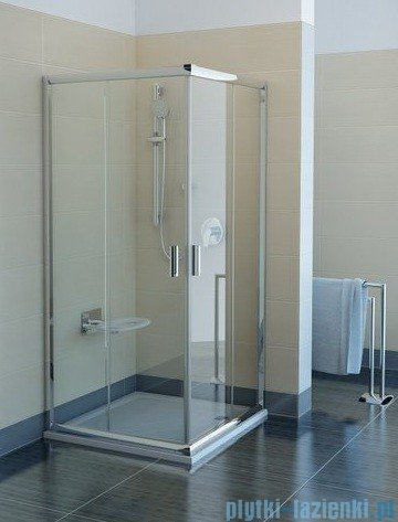 Ravak Kabina prysznicowa Blix BLRV2 kwadratowa 90x90 aluminium transparent Anticalc 1LV70C00Z1