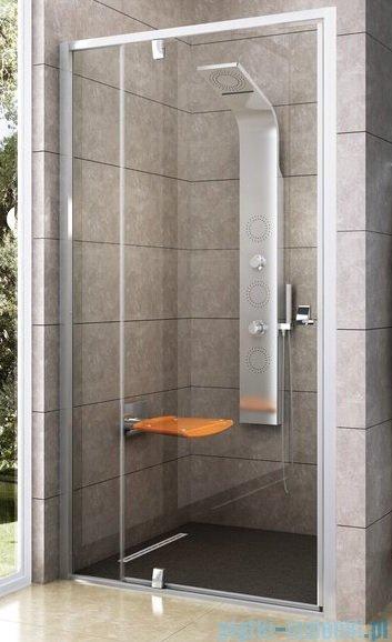 Ravak Drzwi prysznicowe obrotowe Pivot PDOP2-100 białe/białe transparent 03GA0101Z1