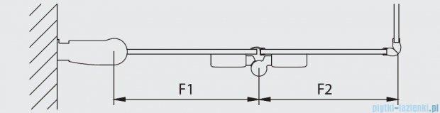 Kermi Diga Wejście narożne,połowa kabiny, lewa, szkło przezroczyste, profile srebrne 90x200cm DI2CL09020VAK