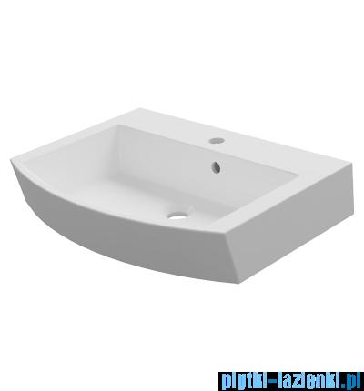 Omnires Hydra Marble+ umywalka nablatowa 60x45cm biała