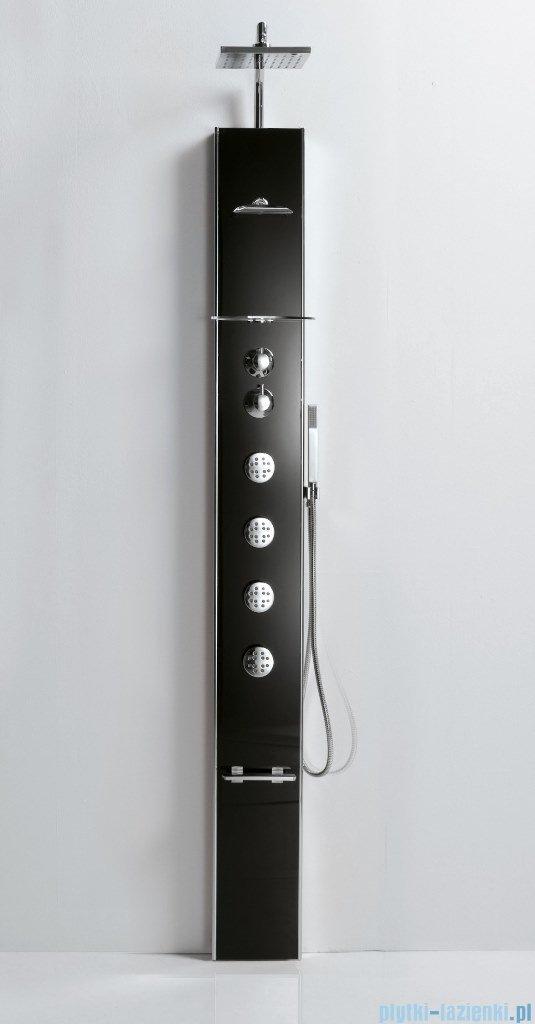 Novellini Aqua 1 Cascata 1 panel prysznicowy czarny bateria termostatyczna CASC1VT-H