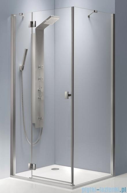 Radaway Essenza KDJ kabina 80x80 lewa szkło brązowe + brodzik Delos C + syfon 32812-01-08NL