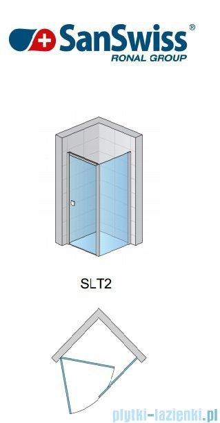 SanSwiss Swing Line SLT2 Ścianka boczna 90-125cm profil srebrny SLT2SM20107
