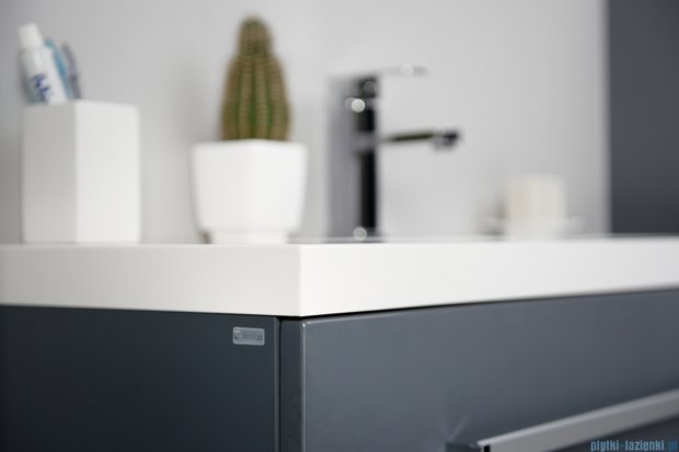 Antado Variete szafka z umywalką, wisząca 140 szary połysk 2 x FM-442/4GT-K917 + FM-442/6GT-K917 + UNAM-1404C