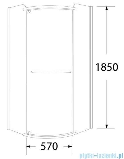 Sea Horse Sigma kabina natryskowa narożna półokrągła 90x90cm szkło grafit BK002/3/RG