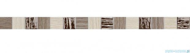 Tubądzin Biloba grey listwa ścienna 3,9x60,8