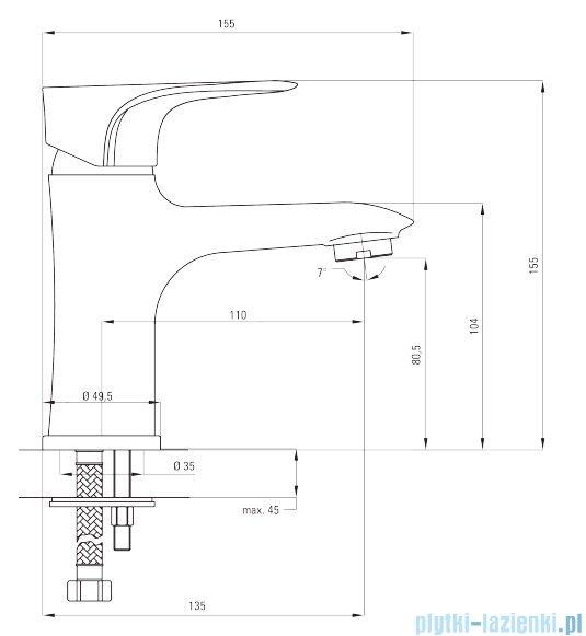 Deante Gardenia bateria umywalkowa stojąca chrom BEG 021M