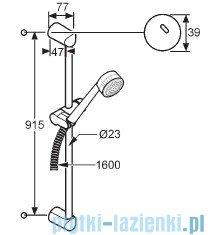 Kludi Zenta Zestaw natryskowy 2S dł.90cm chrom 6074005-00