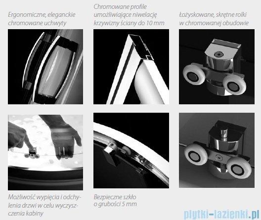 Radaway Premium Plus Dwj drzwi wnękowe 130cm szkło fabric 33333-01-06N