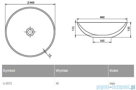 New Trendy Umywalka nablatowa okrągła biała U-0072