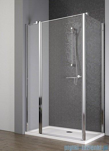 Radaway Eos II KDJ kabina prysznicowa 90x80 lewa szkło przejrzyste + brodzik Argos D + syfon 3799421-01L/3799430-01R/4AD89-01
