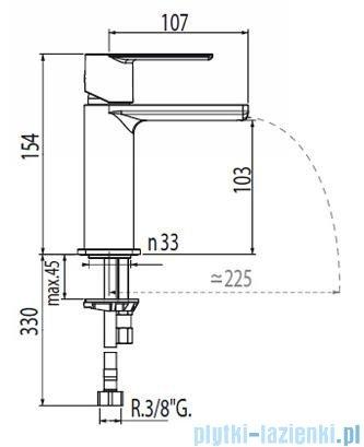 Tres Loft-Tres Bateria umywalkowa kolor chrom 200.110.02