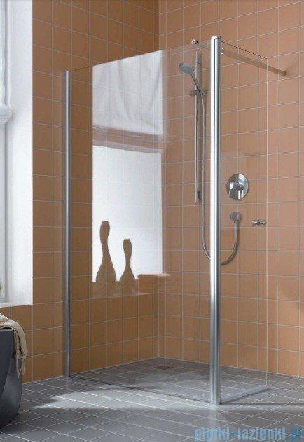 Kermi Atea Ściana boczna wolno stojąca z ruchomym skrzydłem, lewa, szkło przezroczyste, profile srebrne 80cm ATTFL08018VAK