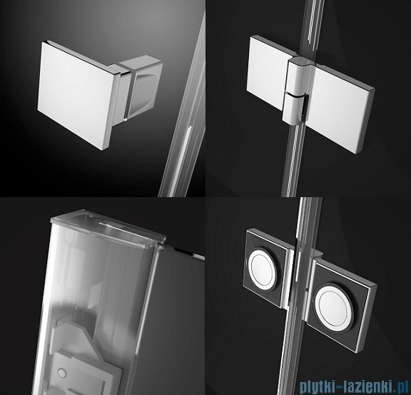 Radaway Essenza New DWJS drzwi wnękowe 130cm lewe szkło przejrzyste 385032-01-01L/384090-01-01