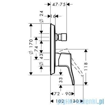Hansgrohe Metris Classic Jednouchwytowa bateria wannowa montaż podtynkowy 31485000