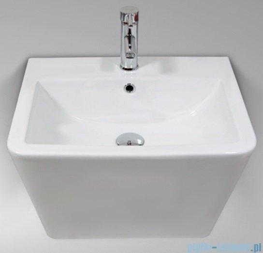 Massi Tringo umywalka wisząca 57x44cm biała MSU-K9370