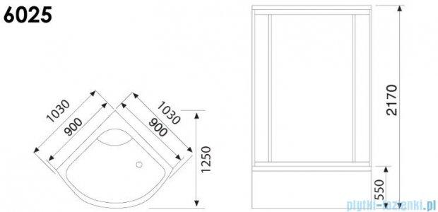 Duschy Kabina z hydromasażem 90x90cm model 6025