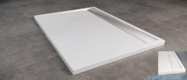 SanSwiss WIA Brodzik konglomeratowy prostokątny 90x100cm biały/biały WIA901000404