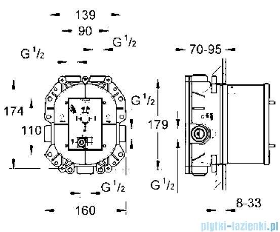 Grohe Rapido T uniwersalny podtynkowy element termostatyczny 35500000