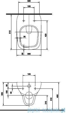 Koło Style Miska Wc ustępowa lejowa wisząca z powłoką Reflex L23100900