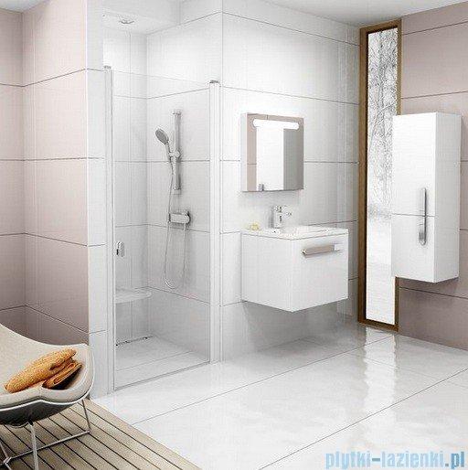 Ravak Chrome Drzwi prysznicowe CSD1-80 białe+transparent 0QV40100Z1