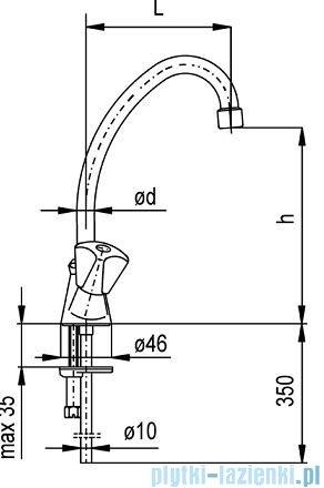 KFA STANDARD Bateria umywalkowa stojąca dł. 135 mm 302-315-00