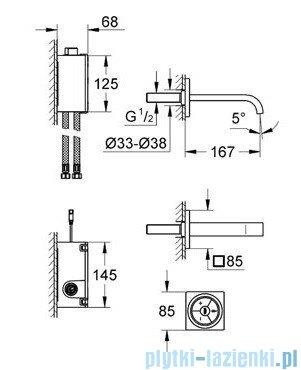 Grohe Allure F-digital elektroniczna bateria umywalkowa chrom 36343000