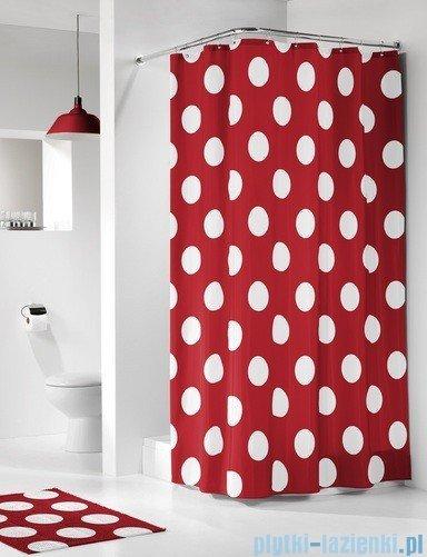 Sealskin Polka czerwona zasłona prysznicowa tekstylna 180x200cm 233101359
