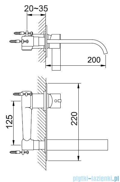 Kohlman Dexame Podtynkowa bateria umywalkowa QW188D