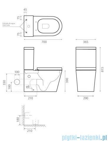 Bathco Ronda WC kompakt z deską 4511