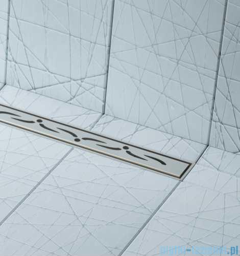 Schedpol brodzik posadzkowy podpłytkowy ruszt Slim Lux Stamp 80x80x5cm 10.101/OLSP