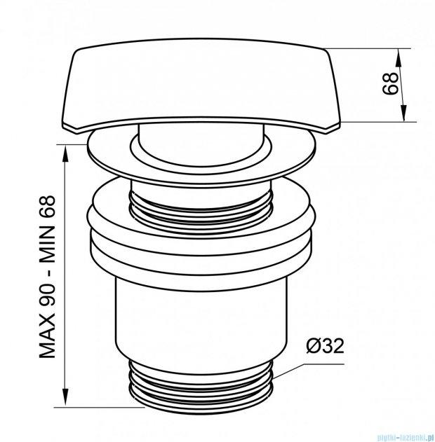 New Trendy korek klik-klak do syfonu umywalkowego S-0031