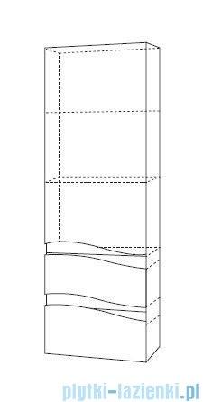 Antado Wave słupek z szufladami prawy 40x31,5x150cm grafit mat VA-160/2R-U164