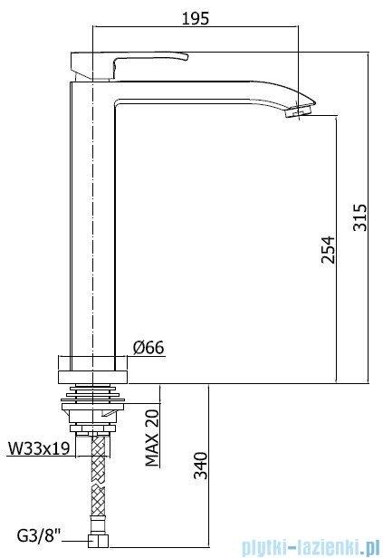 Paffoni  Bateria zlewozmywakowa stojąca Level Standard chrom LES188CR