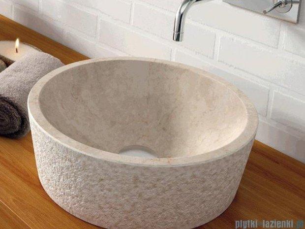 Bathco umywalka kamienna nablatowa Dual Beige 40,5x130 cm 00307