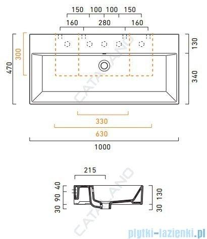 Catalano Premium 100 umywalka 100x47 z powłoką biała 110VP00