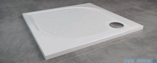 SanSwiss WMQ Marblemate Brodzik konglomeratowy 80x80cm czarny granit WMQ0800154