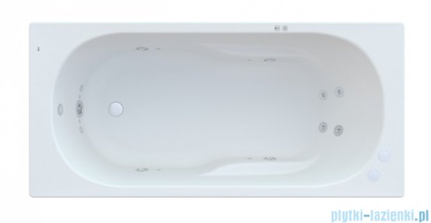 Roca Genova N wanna 160x75cm z hydromasażem Smart Water Plus A24T365000