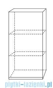 Antado Combi szafka wisząca górna prawa 45x20cm biała/ciemne drewno ALT-114-R-WS/dp