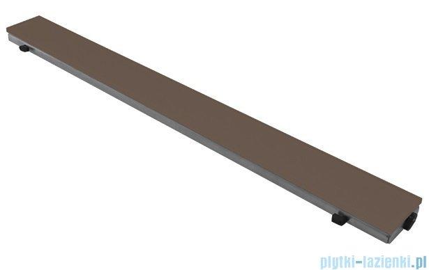 New Trendy Brillo ruszt do odpływów liniowych, szkło brązowe 88x6,5cm RU-0034