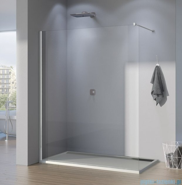 SanSwiss Pur PDT4P Ścianka wolnostojąca 75cm profil chrom szkło Durlux 200 PDT4P0751022