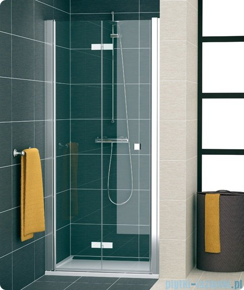 SanSwiss Swing Line F SLF1 Drzwi 2-częściowe 70cm profil srebrny Lewe SLF1G07000107
