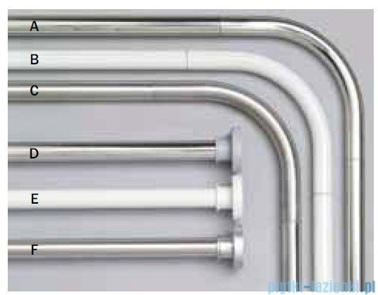 Sealskin Stang Drążek prysznicowy kątowy biały aluminium 275556210