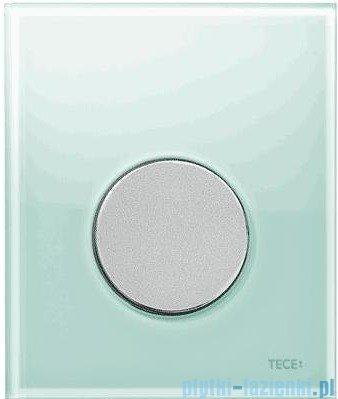 Tece Przycisk spłukujący ze szkła do pisuaru Teceloop szkło zielone, przycisk chrom matowy 9.242.652