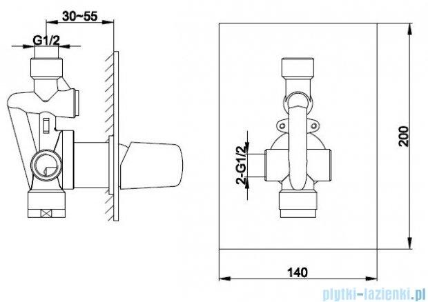 Kohlman Lexis zestaw prysznicowy chrom QW220LSP1
